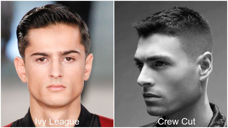 Ivy League cut Vs. Crew cut en une image